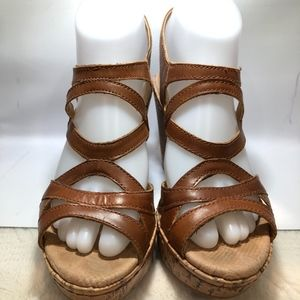 BOC, BORN CONCEPT Cork Inspired Wedge Sandal